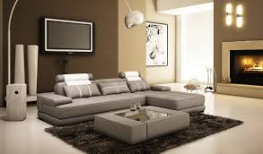 divani casa 5005a mini modern grey and white leather sectional