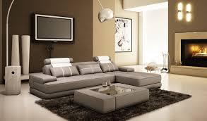 White Leather Sectional Sofas Divani Casa 5005a Mini Modern Grey And White Leather Sectional