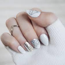 awesome 40 dazzling ways to style white nails u2013 topnotch nails