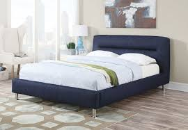 acme 25070q adney collection blue denim padded headboard footboard