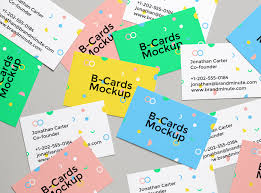 realistic business cards mockup 4 graphicburger