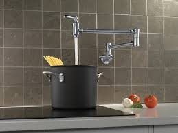 pot filler kitchen faucet delta faucet 1177lf ar wall mount pot filler faucet arctic