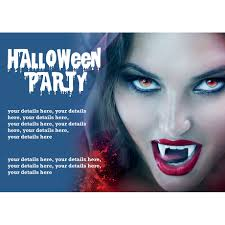 lady vampire halloween party invitation buzz invites