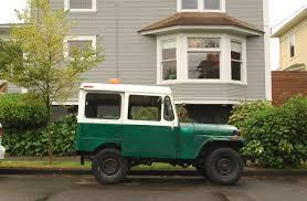 old jeep truck old parked cars 1980 jeep dispatcher dj 5 postal truck