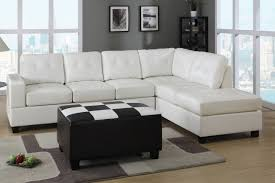 Ashley Furniture Chaise Sofa by White Leather Ashley Furniture Sectional Sofa With Chaise Photo 05