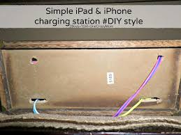 create a simple diy iphone and ipad charging station to match