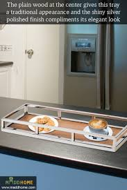 presenting the steel and wooden tray maddhome homedecor trays