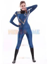 Invisible Halloween Costume Blue U0026 Black Fantastic Superhero Costume Invisible Woman