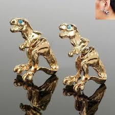 dinosaur earrings cool rock dinosaur earrings treasure fan