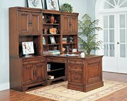 Modular Home Office Desks Warm Cherry Executive Modular Home Office Furniture