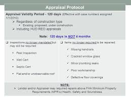 Hud Reo Appraisal Mortgagee Letter mortgage corporation ppt