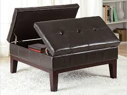 Leather Coffee Table Storage 36 Top Brown Leather Ottoman Coffee Tables