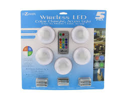 5 pack i zoom wireless led color changing push lights with remote