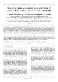 Casting Assistant Microstructure And Sliding Wear Behaviour Of Stircast Ti Gr And Ti U2013f U2026