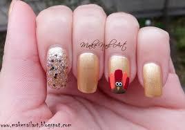 thanksgiving turkey nail design nail by make nail