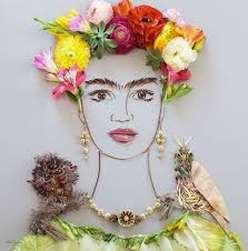 check out these gorgeous frida kahlo flower portraits