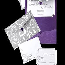 Purple And Silver Wedding Invitations Wedding Templates