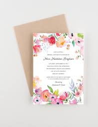 luncheon invitations boho botanical garden bridal luncheon invitation bridal shower