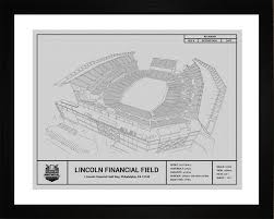 what size paper are blueprints printed on philadelphia eagles lincoln financial field stadium blueprint art