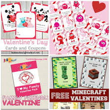 minecraft s day cards free printable valentines day cards for kids