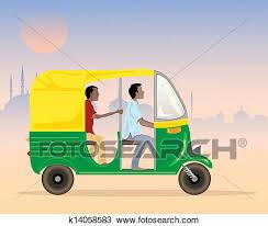 clip art of auto rickshaw driver k6684419 search clipart