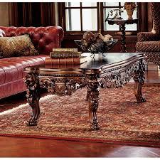 grand hall lion leg coffee table af7280 design toscano