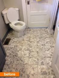 Bathroom Flooring Vinyl Ideas Brown Paper Floor Dark Walnut Stain In Bathroom Over Linoleum