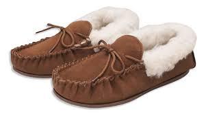 nordvek womens genuine suede moccasin slippers sheepskin wool hard