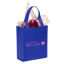 blue gift bags custom non woven small gift bags tot07 discountmugs