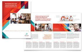 11x17 brochure template application software developer brochure