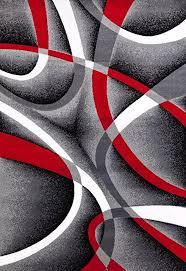 Red White And Black Rug Amazon Com 2305 Gray Black Red White Swirls 5 U00272 X7 U00272 Modern