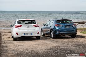 hyundai small car 2017 mazda3 vs hyundai i30 small car comparison video