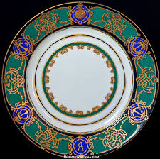 tsar ii russian imperial yacht service porcelain plate