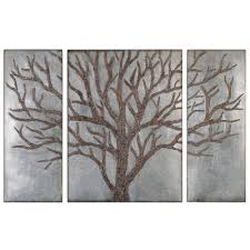 Tree Of Life Home Decor Silver And Bronzed Tree Of Life Wall Art Rustic Retreat