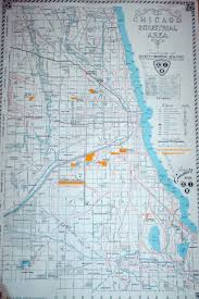 Map Chicago 1947 Chicago Society Of Industrial Engineers Map Chicago Switching