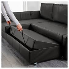 Leather Sofa Bed With Storage Corner Sofa Bed With Storage Bomstad Black Ikea For Black