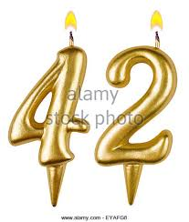 gold birthday candles birthday candles number forty two stock photos birthday candles