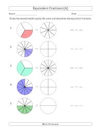 fraction strip equivalent fractions equivalents worksheets for 4th