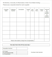 blank order form templates u2013 44 word excel pdf document