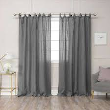 Tie Top Curtains Tie Top Curtains Drapes Window Treatments The Home Depot