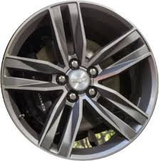 chevy camaro with rims aly5761u35 chevrolet camaro wheel grey machined 22998074