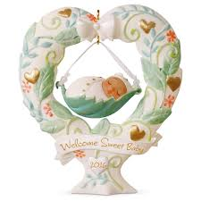 baby u0027s first christmas heart shaped baby swing ornament keepsake