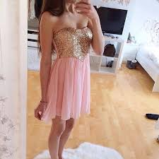 light pink knee length dress solo dress pink homecoming dress homecoming dresses beading