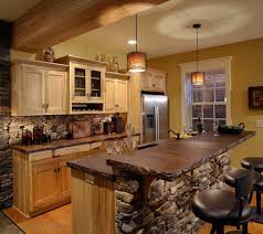 Modern Kitchen Island Stools - kitchen design small rustic cabin kitchen design with l shaped