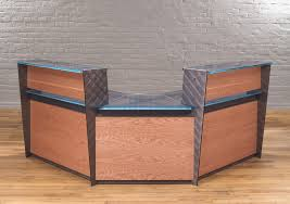 Reception Desk Wood Contemporary Reception Desks Custom Glass Reception Desks