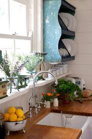 Shabby Chic Plate Rack by Shabby Chic Kitchen With Hanging Plate Rack Pictures Photos And