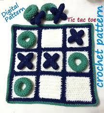 easy pdf crochet pattern amigurumi toy game tic tac toe baby