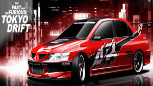 mitsubishi evo 9 wallpaper hd fast and furious tokyo drift docks movie scene mitsubishi lancer