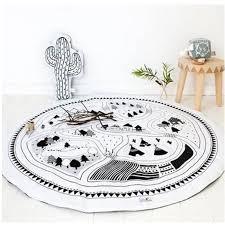 tapis rond chambre tapis chambre bébé rond écologiste carpet de jeux enfants blanc et