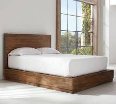 Reclaimed Wood Bed Frame Big S Antiques Reclaimed Wood Bed Pottery Barn